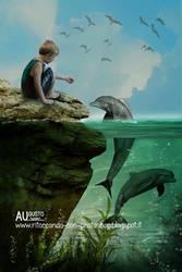 Amici delfini by AugustoDigitalArt
