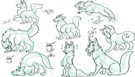 Wolfie Character Sheet by devlilarts
