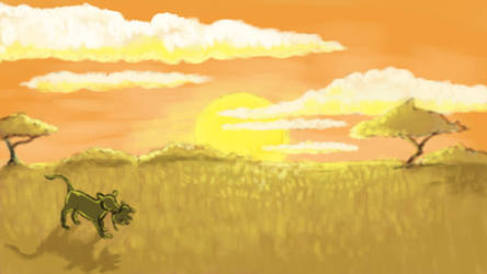 Savanna Sunrise by devlilarts