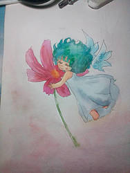Test new watercolor by Berrya