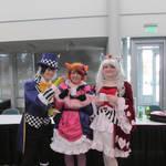 Mascots Takeo, Akiko, and Miyoko at Nekocon 2014 by Smbzoo448