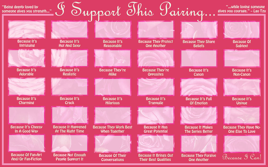 I Support This Pairing Meme Template By Sukoshi13 On Deviantart