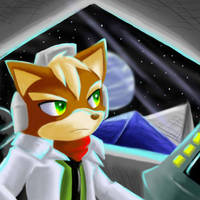The lone fox in space by Sonicbandicoot