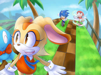 Cream for the Win in Speed Battle by Sonicbandicoot