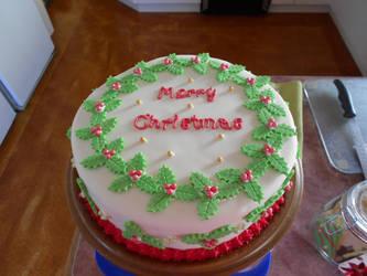 Family Christmas Cake by Thylacina