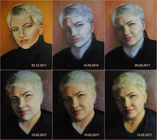 Mama`s portrait. Oil. by Bembiann