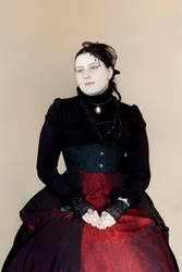 Gothic victorian costume in aristocratic style by MargueritteWeinlich