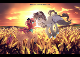 Commission - the sunset by ka-samy