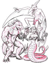 Saurian Squad by strangefour