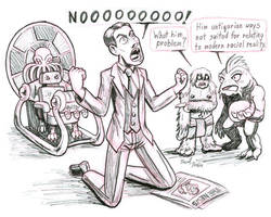 Lovecraft with a Time Machine by strangefour