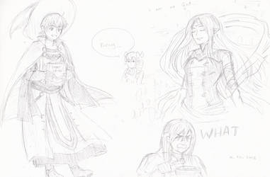 Fire emblem sketchings part one of many by HakuRyoun