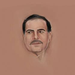 Portrait drawing by fisalaliraqi