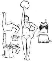 paper doll - cheerleader by lucydanger