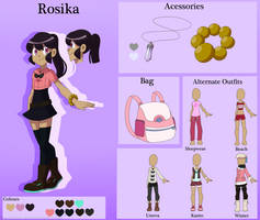 [PKMN OC] Rosika Reference Sheet (OLD) by Saccharinerose