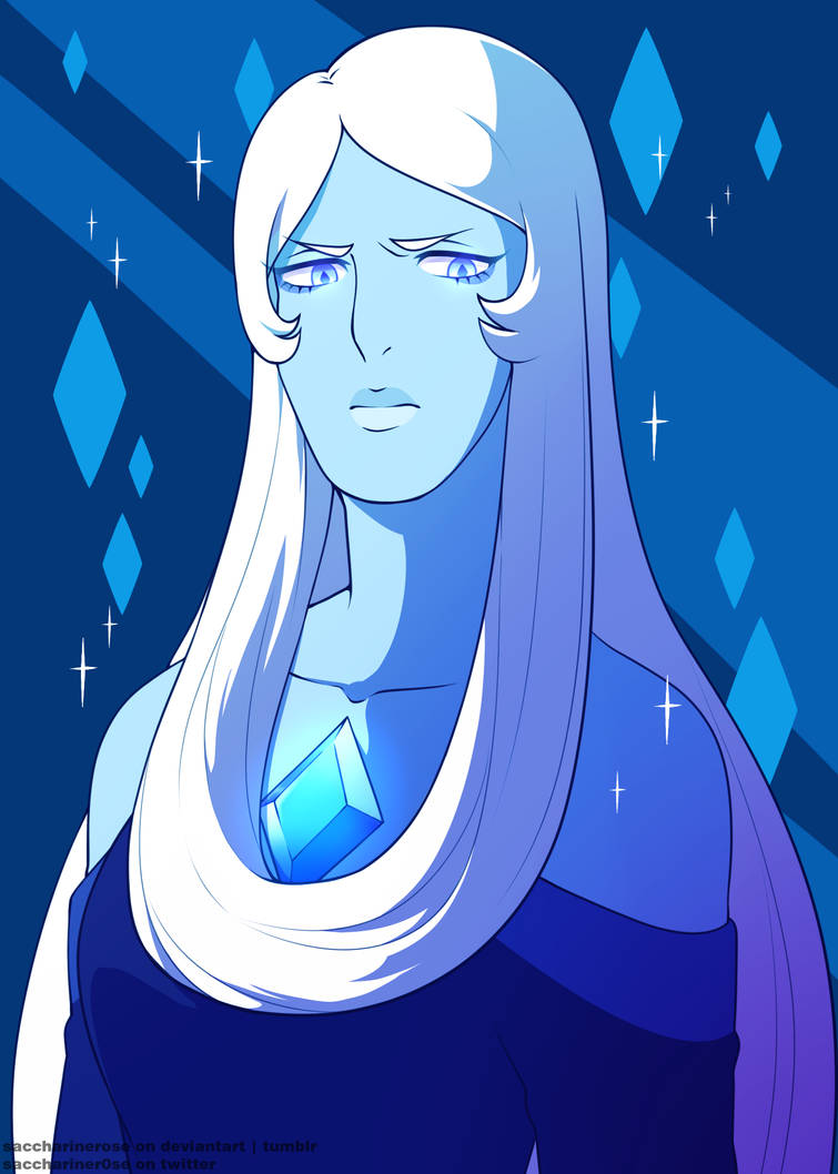 Felt like drawing her~  I love my big, blue wife Art © Saccharinerose  Steven Universe  © Rebecca Sugar