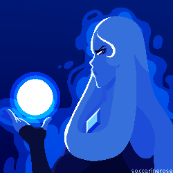 I'm so happy we got canon material of Blue Diamond being terrifying. Thanks Crewniverse for my life, now I want Blue Diamond to step on me. Art © Saccharinerose  Steven Universe &nbs...