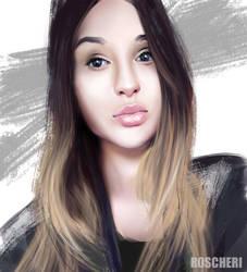 Portrait from photo Evgenia by roscheri