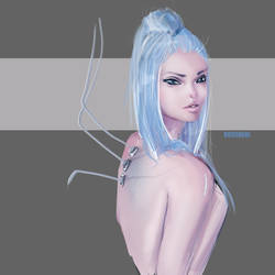 Practice: Android Girl #1 by roscheri