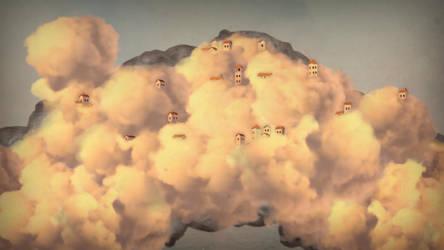 In the clouds by Zatemedek