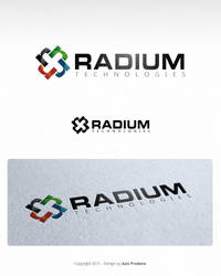 Radium Tech concept logo by azispradana