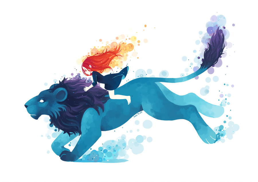 Lion rider by freeminds