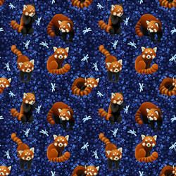 Red Panda Pattern by freeminds