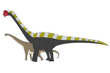 Mutant Brachiosaur by spacezillazon