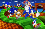 SONIC and HOBBY CONSOLAS by ayamepso