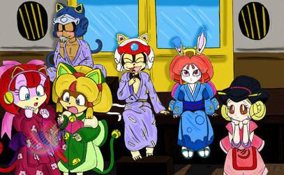 Samurai Pizza Cats - group - by Petunia43