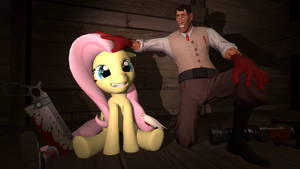 Medic And Fluttershy by Hellhounds04
