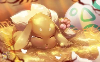 Baby Eevee~! by Pokemura