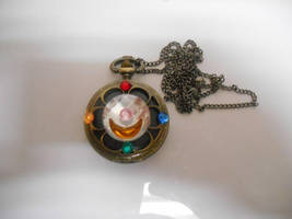 Sailor Moon Brooch Pocket Watch Necklace by leanna18