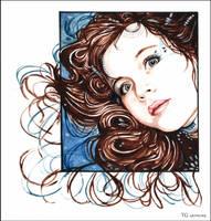 Girl in Watercolours by TanjaGotthardsen