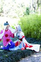 Waka and Okami by PriSuicun
