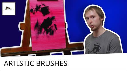 Artistic brushes for professional oil painting by Daniil-Belov-artist