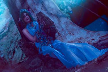 Tyrande Whisperwind- Night Criatures by JulietGarcia