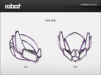 robat-head study by Scundo