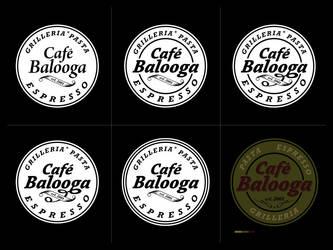 cafe balooga logo study by Scundo
