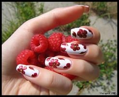 Raspberry -nail-art -1 by Shangova