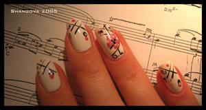 Crystal sakura-2 -nail-art by Shangova