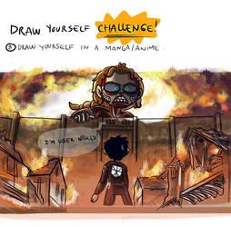 Draw Yourself CHALLENGE 8 -anime,manga- by TheAcciuga