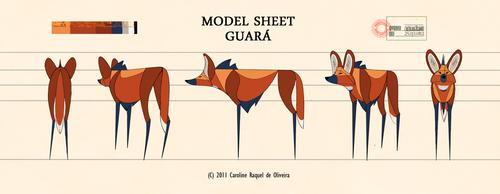 Model Sheet: Guara by CarolineRaquel