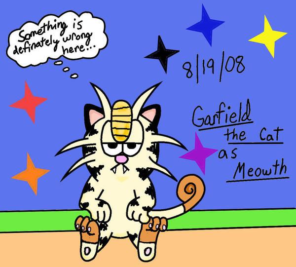 Garfield turned into a Pokemon by YoshiGamerGirl