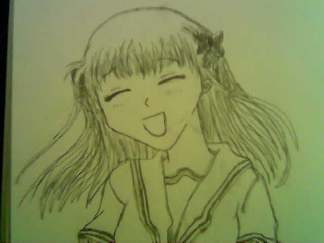 Tohru Honda smiling by YoshiGamerGirl