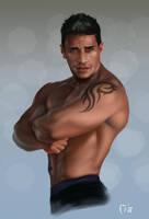 Latino Model Man by MaleArtist