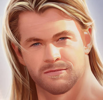 Chris Hemsworth Details Face 2 by MaleArtist