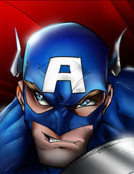 Captain America colored by MaleArtist