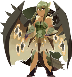 Grace the Rathian - Monster Hunter Gijinka OC by MegaCrusher85