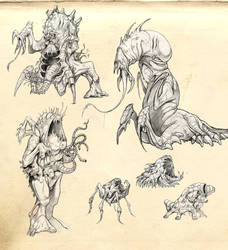 The Thing - concept drawings 1 by Kaduflyer