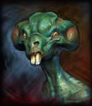 Goofy Alien by Kaduflyer